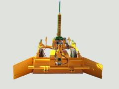 Niveladora guiada por rayo laser