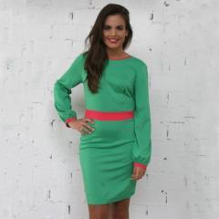 Vestido verde escote espalda PenadeSuerte
