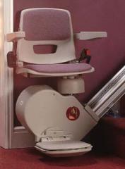 Salvaescaleras de tramo recto silla recta