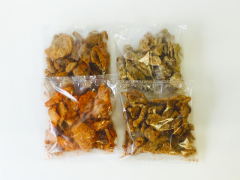 Pork snacks with flavors
