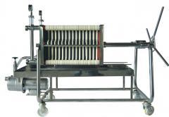 Filtro de placas 40 x 40 modelo TAURO INOX con bomba