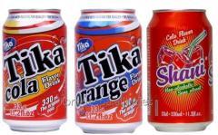Refrescos Cola, Naranja y Multifrutas