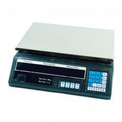 Báscula frutera comercio hasta 40kg (5/5 gramos) suma precios batería de seguridad