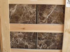 Marron Imperial Marmol losa pulida 60x30 Clasico
