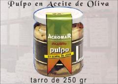 Conservas, pulpo en aceite de oliva