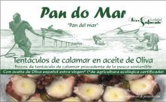 Tentáculos de calamar en aceite de Oliva