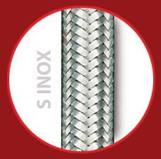 Tubo de silicona con dos trenzados: Una trenza