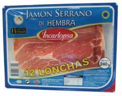 Jamón Serrano de Hembra, 12 lonchas