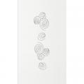 Panel de screen bordado - modelo ELIPSE blanco
