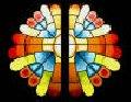 Vidrieras Emplomadas en composición geométrica irregular