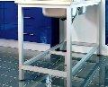 Sistema estructural de perfiles de aluminio anodizado en plata mate