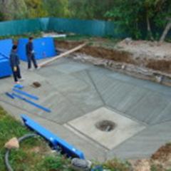 Montaje piscina de acero con lainer