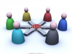 Servicios de marketing con aplicacion de bases de datos on-line