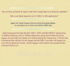 BG, SBLC, MTN, BANK-DRAFT