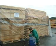 Tratamiento de madera para exportación